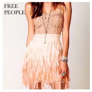 Free People Ombré Feather/Sequin Dress-XS